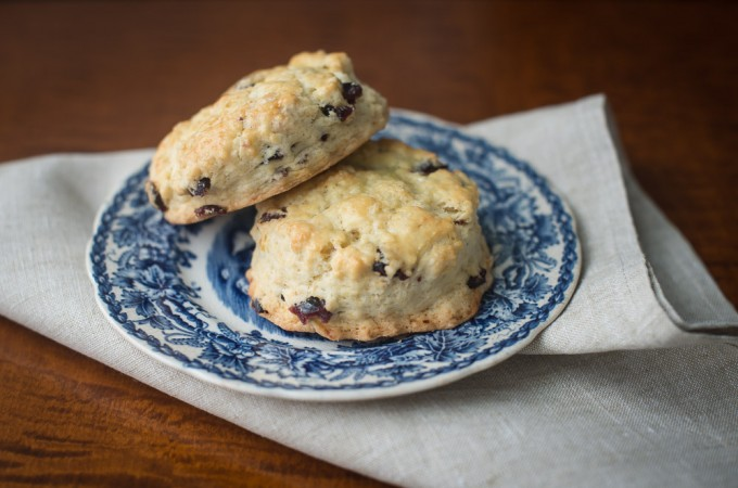 Scones with Cranberries and Orange Zest