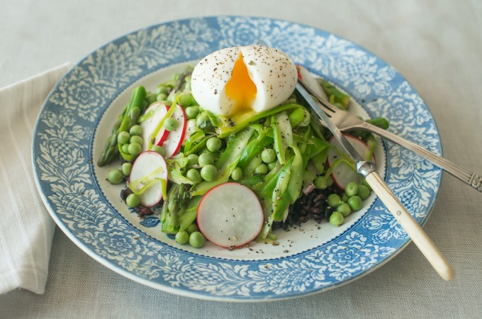 Soft Boiled Egg Spring Salad