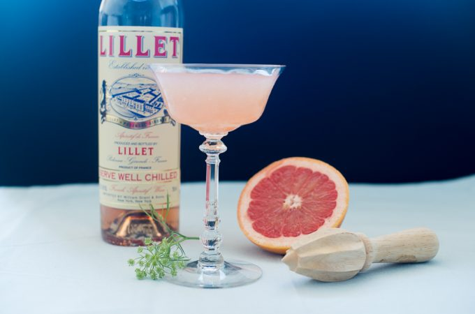 Spring Cocktail with Lillet Rosé