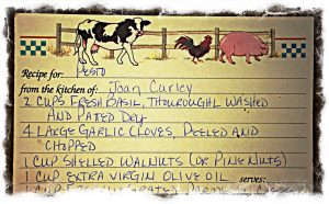 Joan Curley Pesto recipe