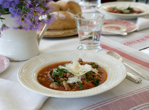 Hot Italian Sausage Tomato Soup