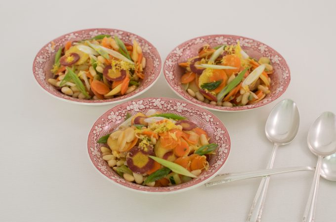 CARROT SALAD SAKE LEMON DRESSING