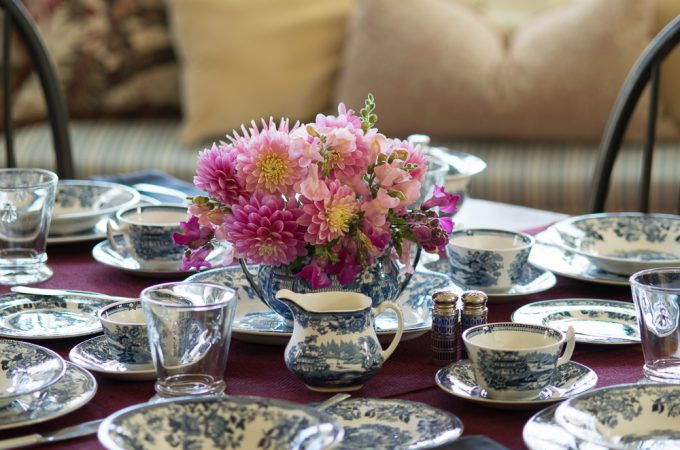 Tablescape set with Royal Staffordshire Tonquin at Mead Meadow