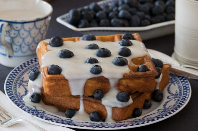 Waffles with White Sauce