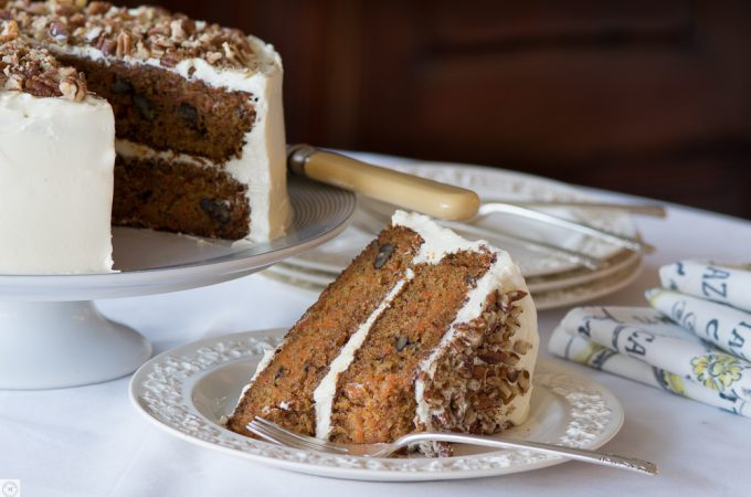 Carrot Cake with White Chocolate – Cream Cheese Icing