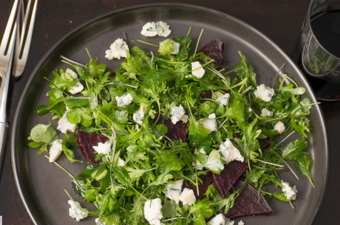 Roasted Beet, Blue Cheese Salad